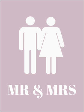Premium-Poster  Mr & Mrs - Finlay and Noa