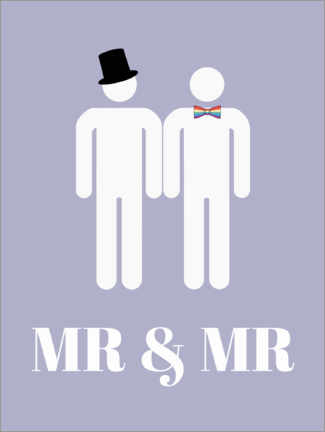 Premium-Poster  Mr & Mr - Finlay and Noa