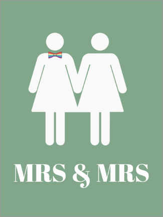 Premium-Poster  Mrs & Mrs - Finlay and Noa
