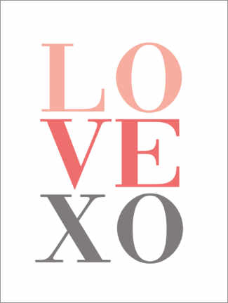 Premium-Poster  Love XO - Finlay and Noa