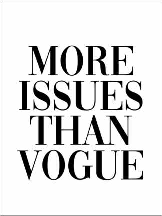 Premium-Poster  More issues than vogue - Finlay and Noa
