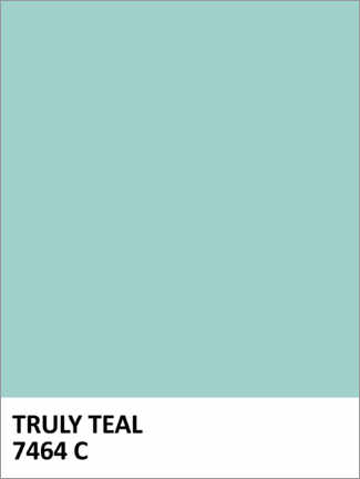 Alubild  Farbe Truly Teal - Finlay and Noa