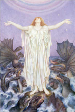 Premium-Poster  SOS - Evelyn De Morgan