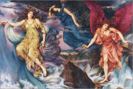 Wandsticker  Die Sturmgeister - Evelyn De Morgan