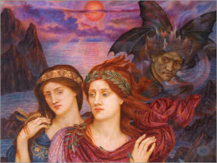 Alubild  Die Vision - Evelyn De Morgan