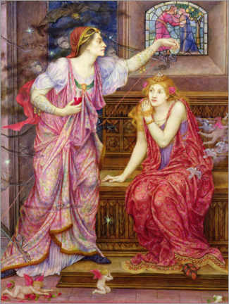 Gallery Print  Königin Eleanor und Rosamund - Evelyn De Morgan
