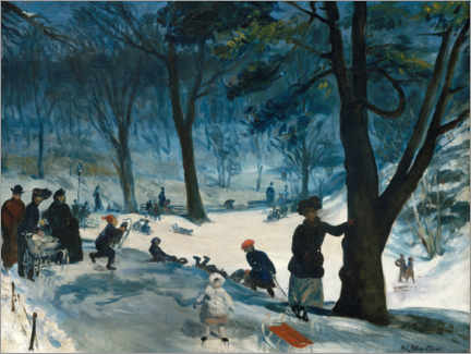 Hartschaumbild  Winter - William James Glackens