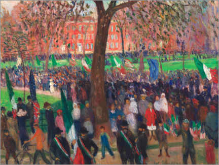 Acrylglasbild  Parade, Washington Square - William James Glackens