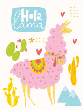 Hartschaumbild  Hola Lama - Kidz Collection