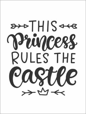 Wandsticker  This princess rules the castle - Typobox