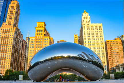 Holzbild  Cloud Gate, Chicago - HADYPHOTO
