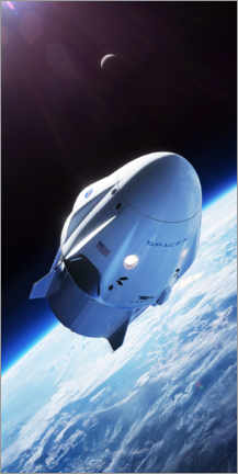 Wandsticker  SpaceX Crew-Drache im Orbit - Spacex