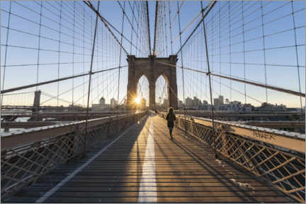 Premium-Poster Brooklyn Bridge bei Sonnenaufgang