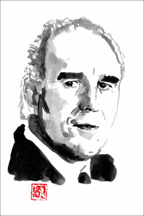 Holzbild  Michel Piccoli - Péchane