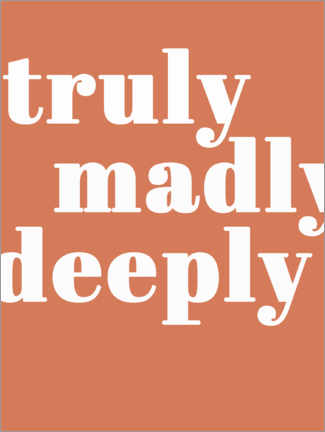 Leinwandbild  Truly madly deeply - Finlay and Noa