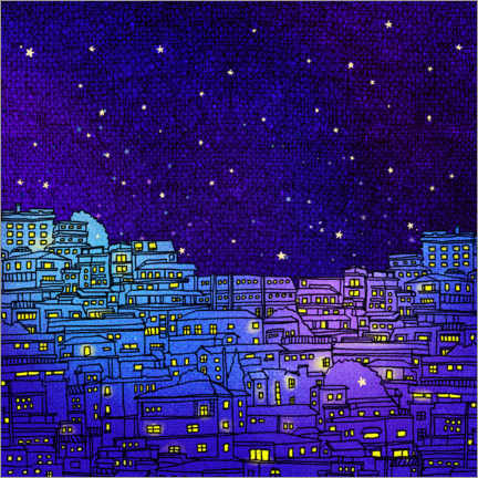 Acrylglasbild  A night in Seoul II - Hajin Bae