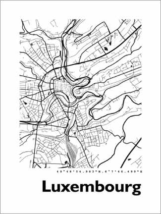 Premium-Poster  Luxemburg - 44spaces