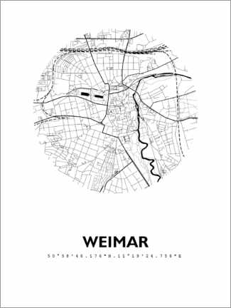 Premium-Poster  Weimar - 44spaces