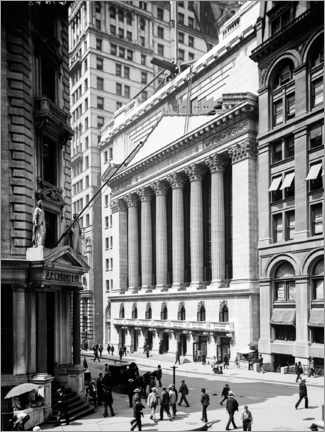 Premium-Poster Historisches New York - Stock Exchange Börse 1900