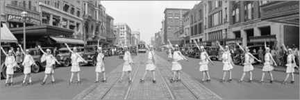 Wandsticker  Roller Skater Girls, Washington DC, 1929