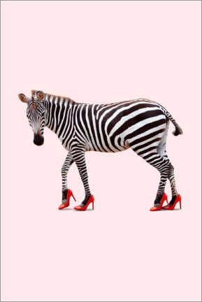 Holzbild  Zebra in Highheels - Jonas Loose