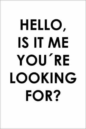 Alubild  Hello, is it me you're looking for? - Typobox