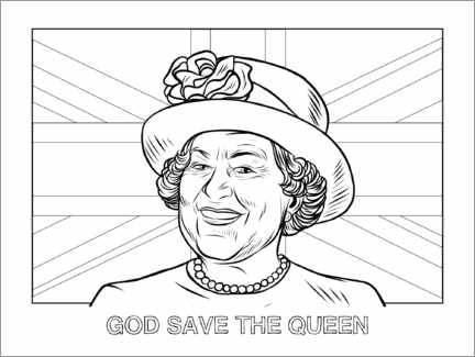 Ausmalposter  God save the queen