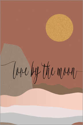 Premium-Poster  Love by the moon - Dani Jay Designs