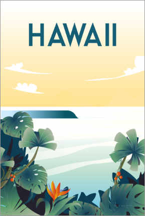 Holzbild  Hawaii - Omar Escalante