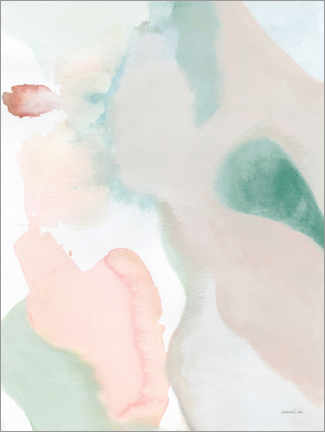 Premium-Poster Sage and Pink Abstract II