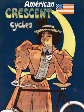 Premium-Poster Crescent Cycles