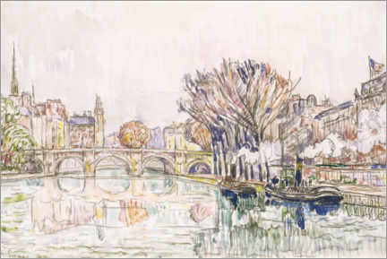 Wandsticker  Pont Neuf, Paris - Paul Signac