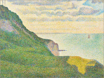 Hartschaumbild  Seelandschaft in Port en Bessin, Normandie - Paul Signac