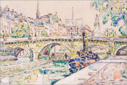Leinwandbild  Le Pont Neuf in Paris - Paul Signac