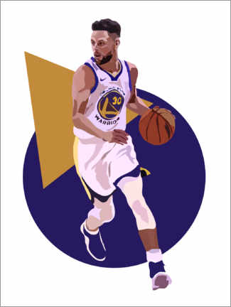 Hartschaumbild  Stephen Curry - Anna McKay