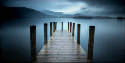 Acrylglasbild  Pier am Derwent Water - Simon J. Turnbull