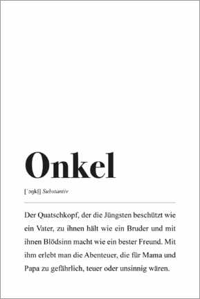Premium-Poster  Onkel Definition - Pulse of Art