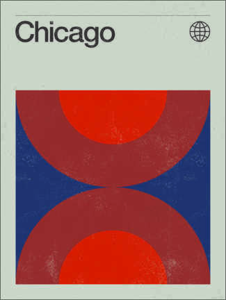 Wandsticker  Chicago - Swissty