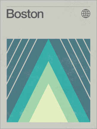 Premium-Poster  Boston - Swissty