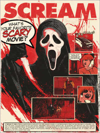 Premium-Poster Scream – Schrei!