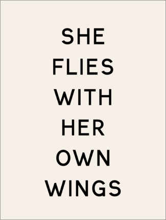 Premium-Poster She flies with her own wings