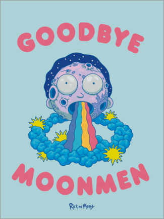 Premium-Poster Rick and Morty - Goodbye Moonmen