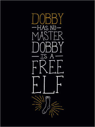 Acrylglasbild  Dobby has no master - Quote