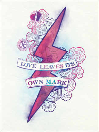 Premium-Poster Harry Potter - Love Leaves Its Own Mark