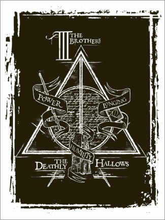 Premium-Poster  Peverell family - The Deathly Hallows