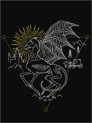 Premium-Poster Harry Potter - Thestral