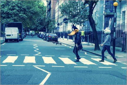 Premium-Poster Bugs & Daffy - Abbey Road