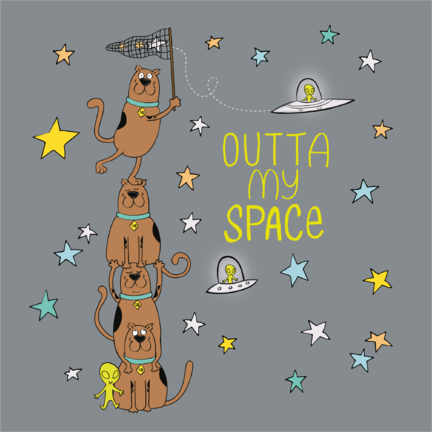 Premium-Poster  Scooby - Outta my space