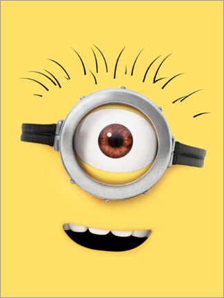 Premium-Poster  Happy Minion Face