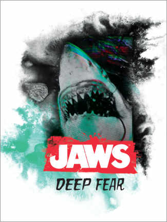 Wandsticker  Jaws - Deep Fear